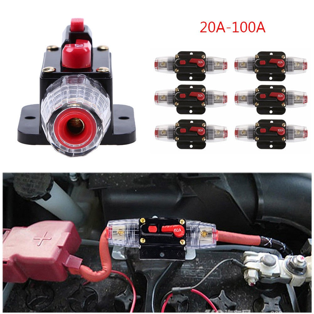 Power Tool Accessories Tools 100% Quality 12v-24v 20a 30a 40a 50a 60a 80a 100a Dc Auto Car Bike Stereo Audio Circuit Breaker Reset Fuse Inverter Excellent In Cushion Effect