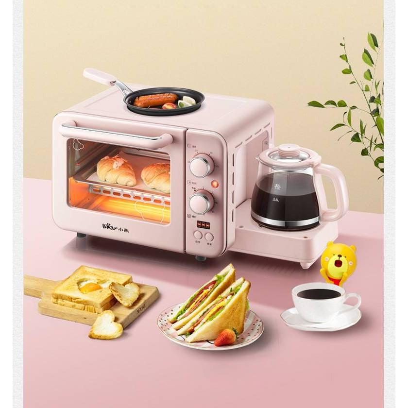 เครื่องไมโครเวฟ เครื่องทำกาแฟ ทำเมนูอาหารเช้า 3IN1 มัลติฟังก์ชั่น ชื่อยี่ห้อ: Bear Model: DSL-C02B1