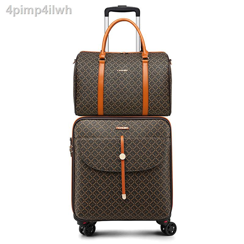 เทรนด์✧﹊ไฟ กระเป๋าเดินทางกระเป๋าเดินทาง กระเป๋าเดินทางใบเล็กผู้หญิง กระเป๋ารถเข็น กระเป๋าเดินทางขนาดเล็กขึ้นเครื่องใหม่ป