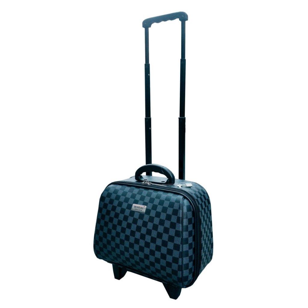 Onebagshop กระเป๋าเดินทางล้อลากรุ่นมินิ CodeK244 size 14 นิ้ว  [ตารางดำ]nebagshop กระเป๋าเดินทางล้อลากรุ่นมินิ CodeK244