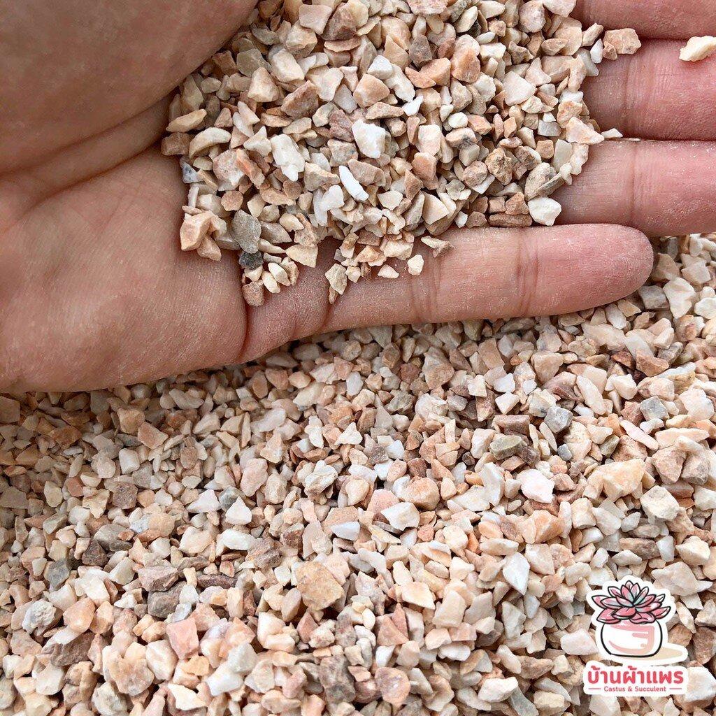 ถุงละ 1 กก. หินเกล็ดชมพูเล็ก หินโรยหน้ากระถาง แคคตัส กระบองเพชร ไม้อวบน้ำ