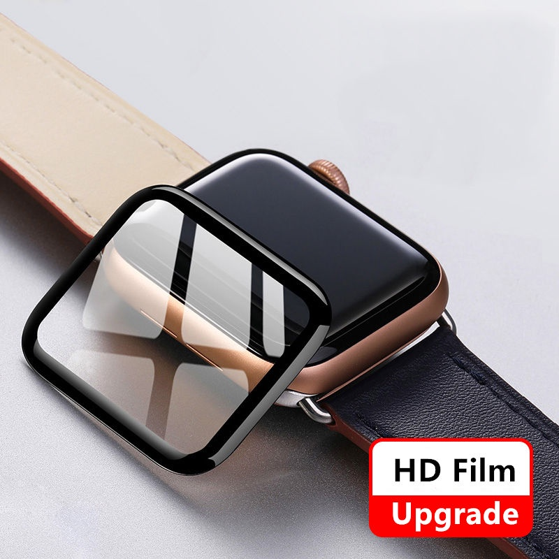 apple watchCase Screen Protective Cover44MM 40MM 42MM 38MM 9DHD Accessories Soft Film WaterproofiwatchCase Series6 5 4 3 se