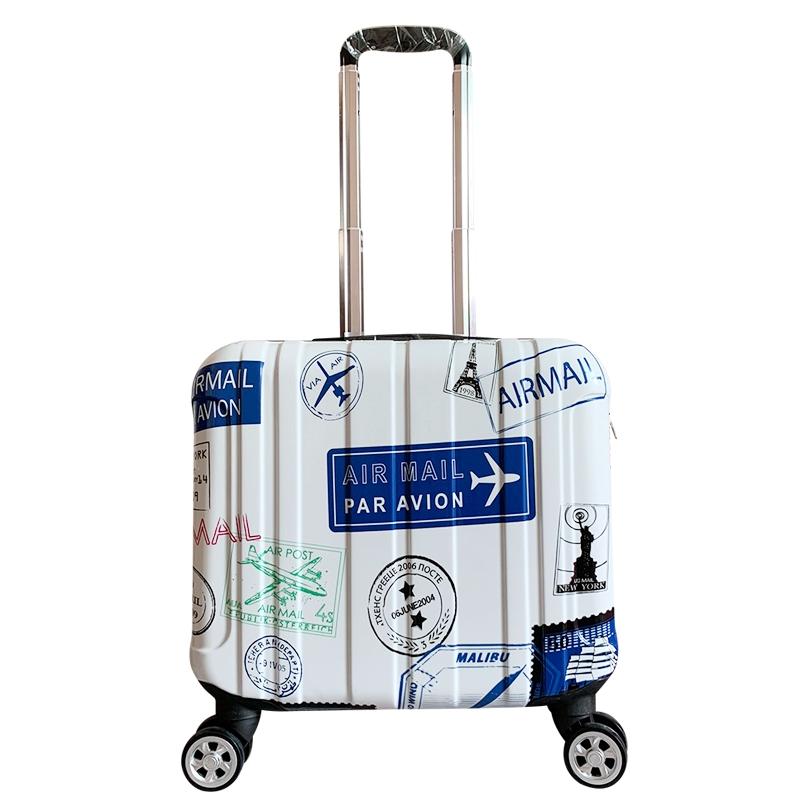 กระเป๋าเดินทางล้อลาก มีลายน่ารัก ขนาดเล็ก 14 นิ้ว