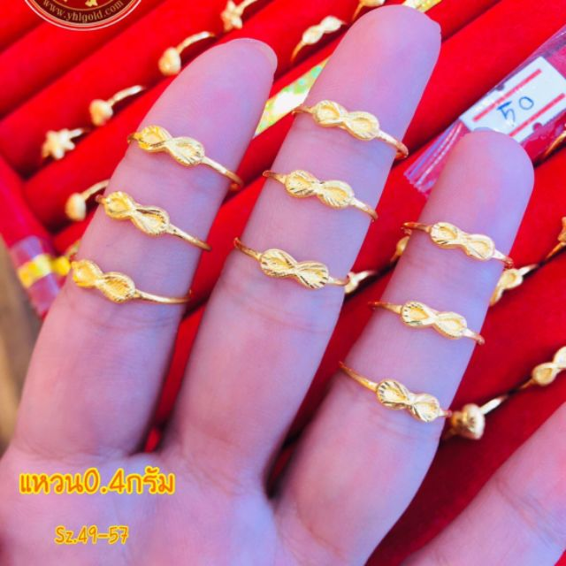 Wow แหวน 0.4 กรัมก็มีนะค่ะ รับออมทอง