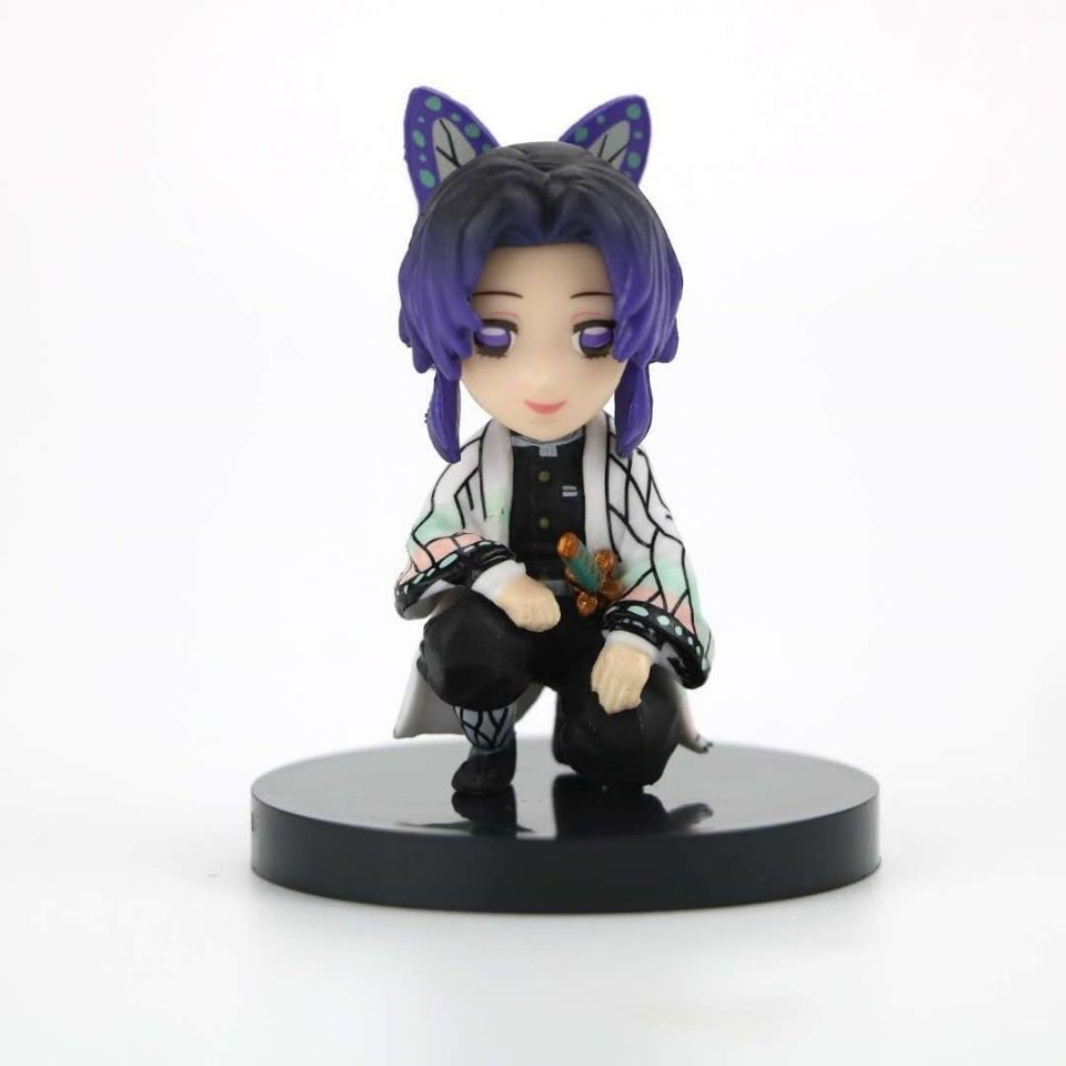 ❁☢4 ชิ้น / เซ็ต Demon Slayer action figure Kyoujurou Shinobu Zenitsu Inosuke Squatting doll collection