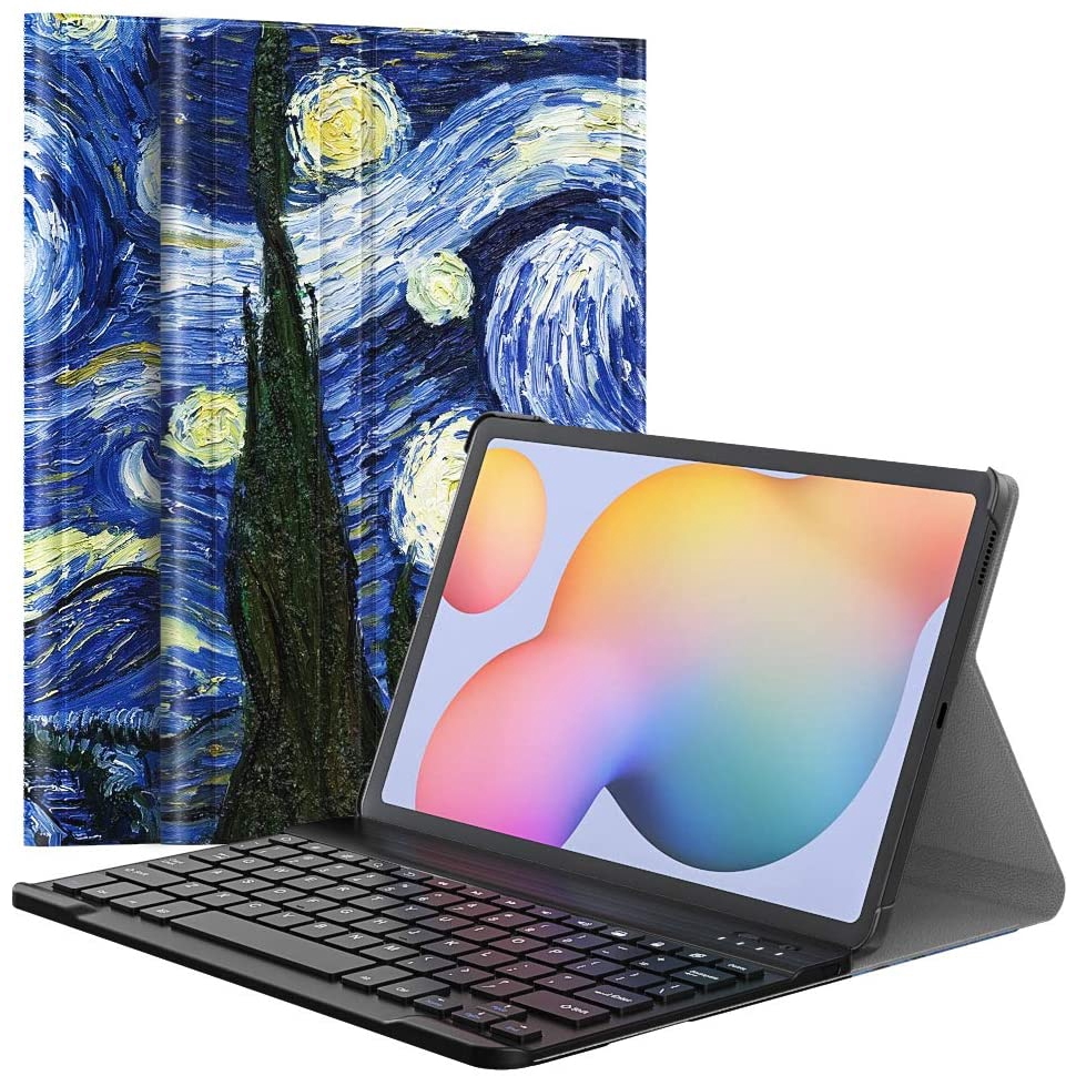 MoKo PU Leather Case with Removable Wireless Keyboard For Samsung Galaxy Tab S6 Lite 10.4 202 SM-P610/P615