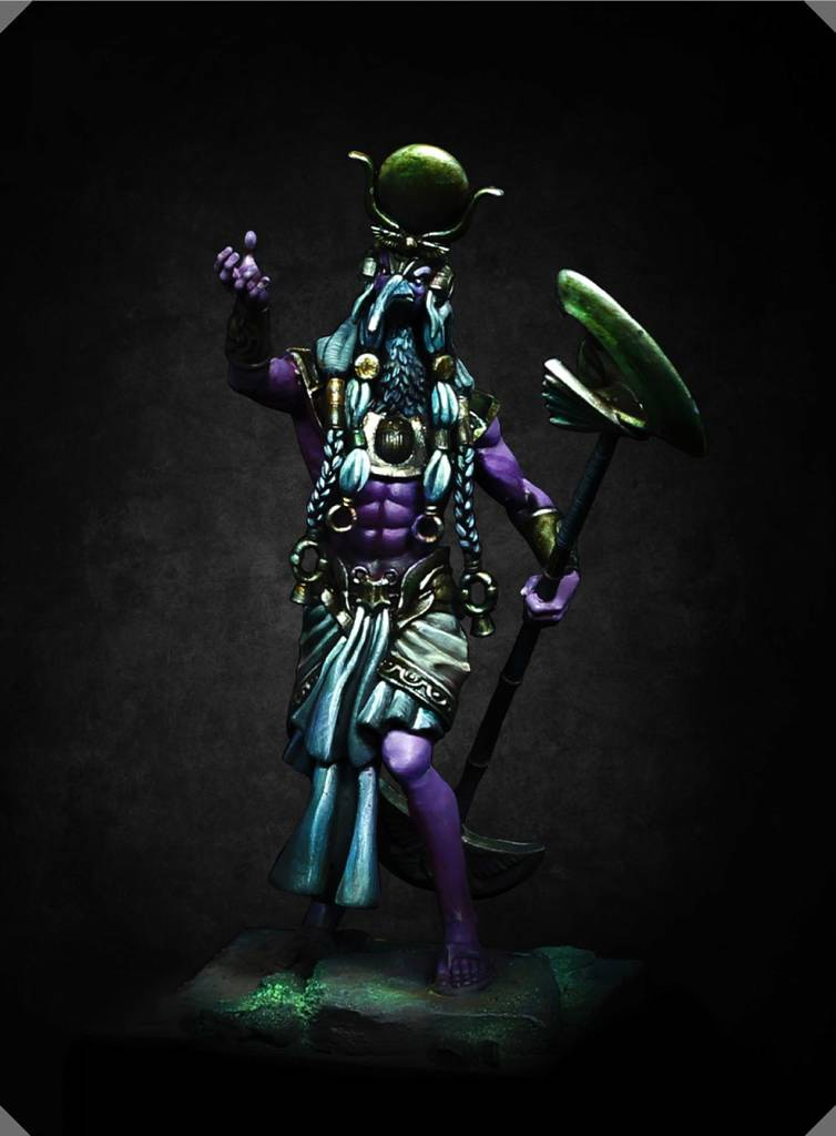 Unainted Kit 1/24  75mm Ancient Tales Thoth Dark God Figure  75mm  Resin Figure miniature garage kit