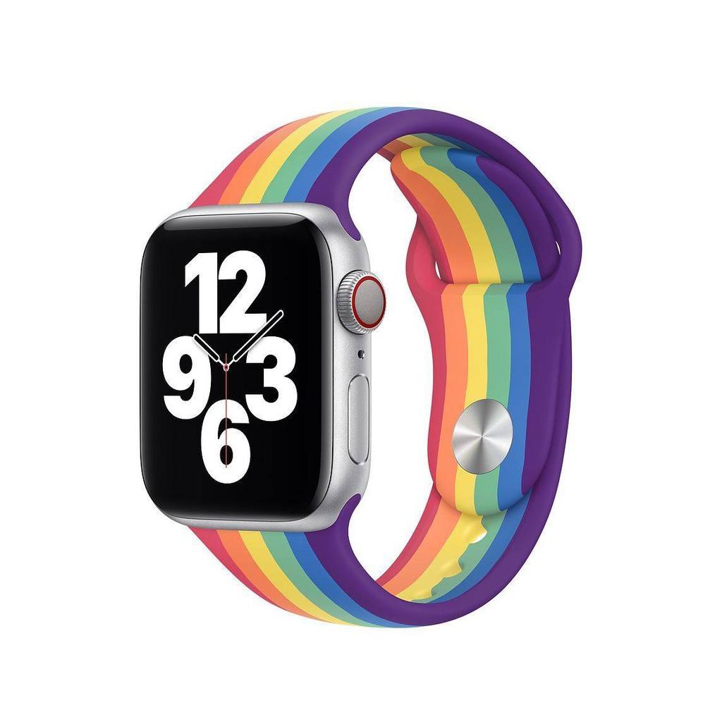 💥 สาย applewatch 🔥 สายรัด Apple Watch iWatch Applewatch 1/2/3/4/5/6 รุ่นที่ใช้งานได้สายรัดข้อมือซิลิโคนเปลี่ยนสาย