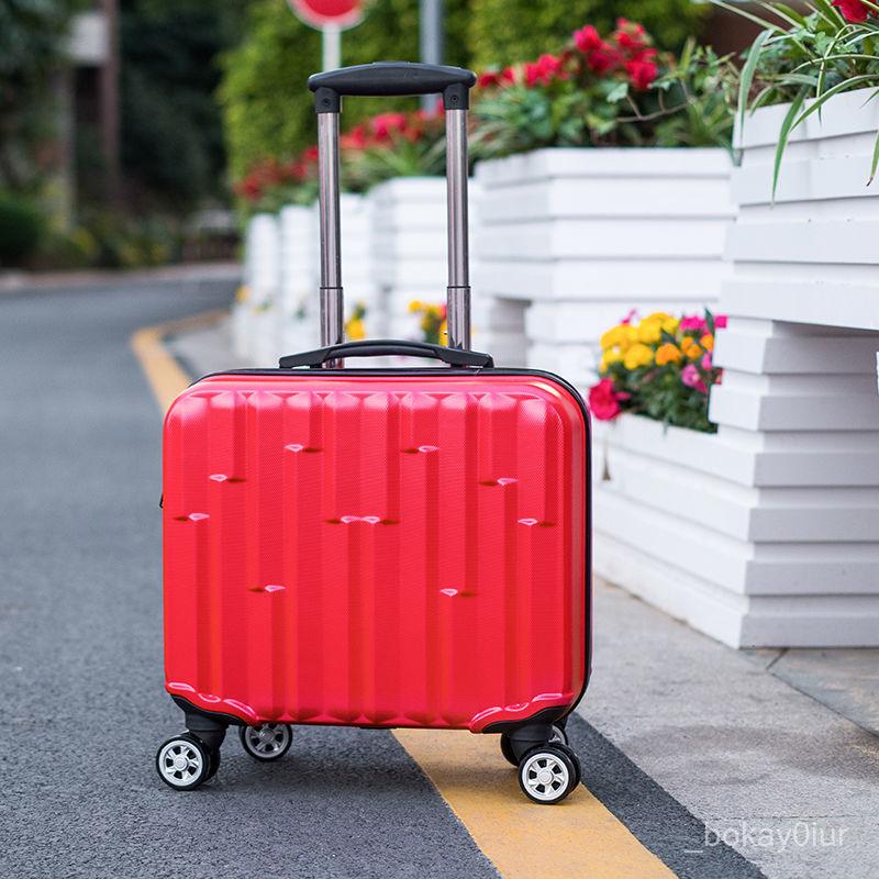 กระเป๋าเดินทางกระเป๋านักเรียนชายและหญิงขนาดเล็ก18-กระเป๋าเดินทางโครงบอร์ดขนาดนิ้ว16นิ้วน่ารักกระเป๋าลากแฟชั่นล้อสากลกล่อ