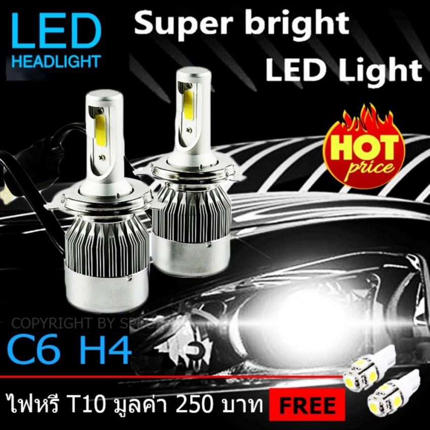 Egal 2Pcs 36W S2-TX Car IP67 Waterproof Headlight LED Bulbs Lamps Light 6500K for H4/H7/H11/9005/9006 Headlight Bulb Replacement 9006 Car Electronics & Accessories