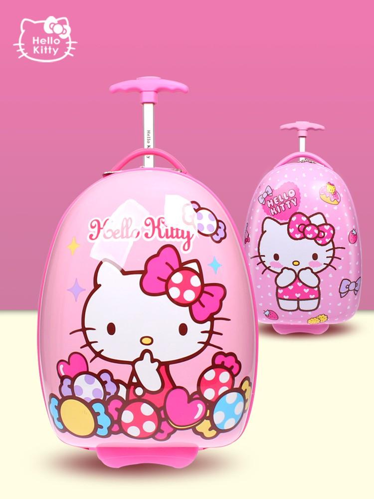 ♋ℯ กระเป๋าเดินทางพกพา  กระเป๋ารถเข็นเดินทางกระเป๋าเดินทางเด็ก กระเป๋ารถเข็นเด็ก HELLO KITTY กระเป๋าเดินทางเด็กผู้หญิง 18