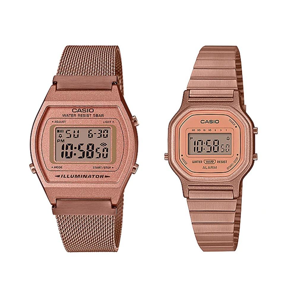 นาฬิกาข้อมือ Casio Standard นาฬิกาข้อมือผู้หญิง สายสแตนเลส รุ่น B640WMR-5A,LA-11WR-5A digZ