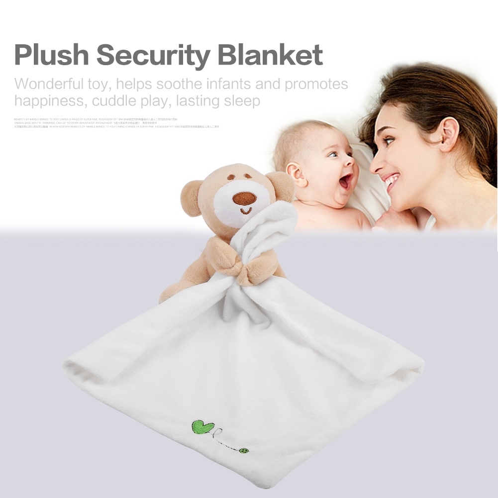 2Pcs Baby Plush Soother Security Blanket Soft Lovely Bear Kids Toy Newborn Gift