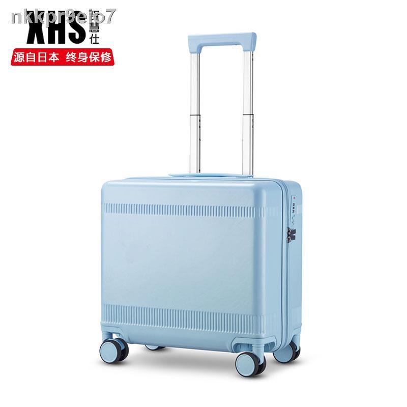 สัมภาระ✗▩กระเป๋าเดินทาง Xianhuishi สไตล์ญี่ปุ่นขนาดเล็ก กระเป๋าใส่รถเข็นขึ้นเครื่องขนาด 18 นิ้ว 20 ใบปิดเสียงสากล