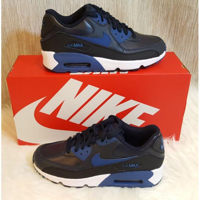 ขาย รองเท้า Nike AirMax 90 LTR GS   ของใหม่ มือ 1 ของแท้ 100% ค่ะ  สีน้ำเงินดำค่ะ