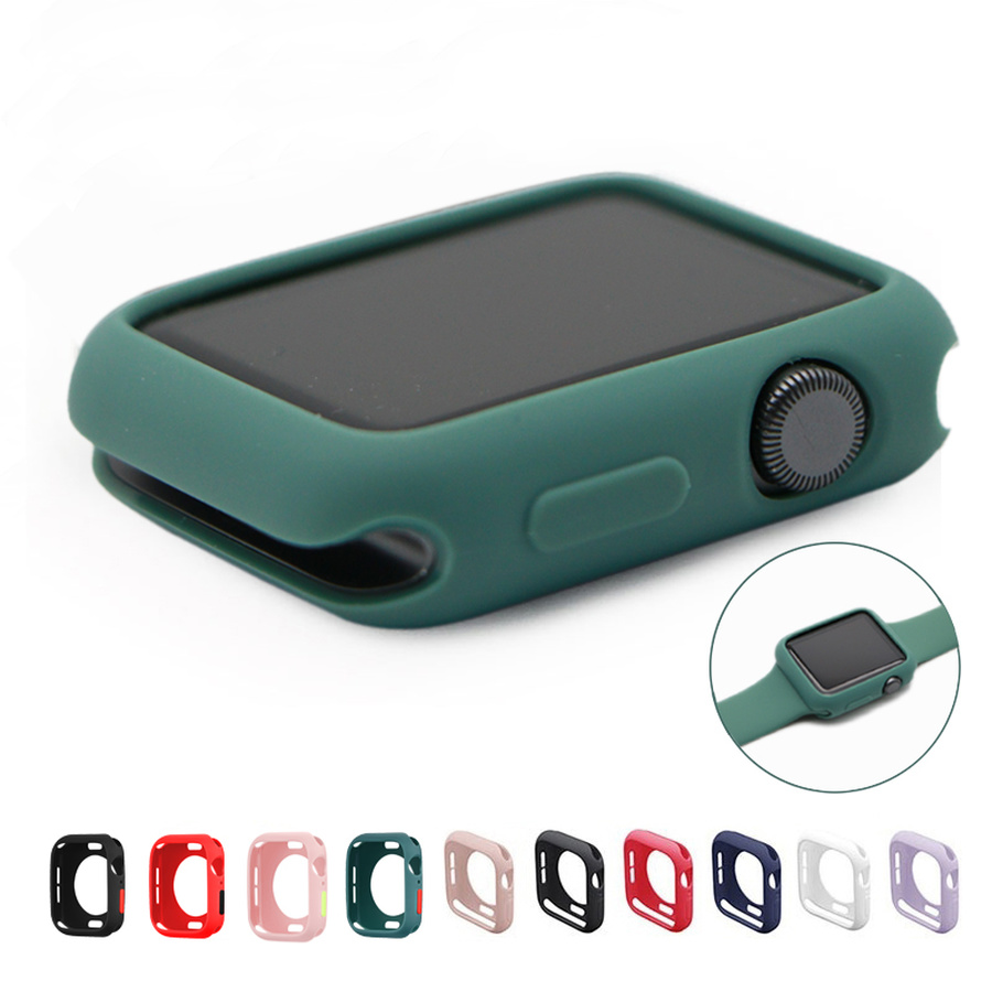 Candy Soft Silicone Case for Apple Watch 3 2 1 42MM 38MM Cover Protection Shell for iWatch 4 5 6 SE 44MM 40MM Watch Bumper