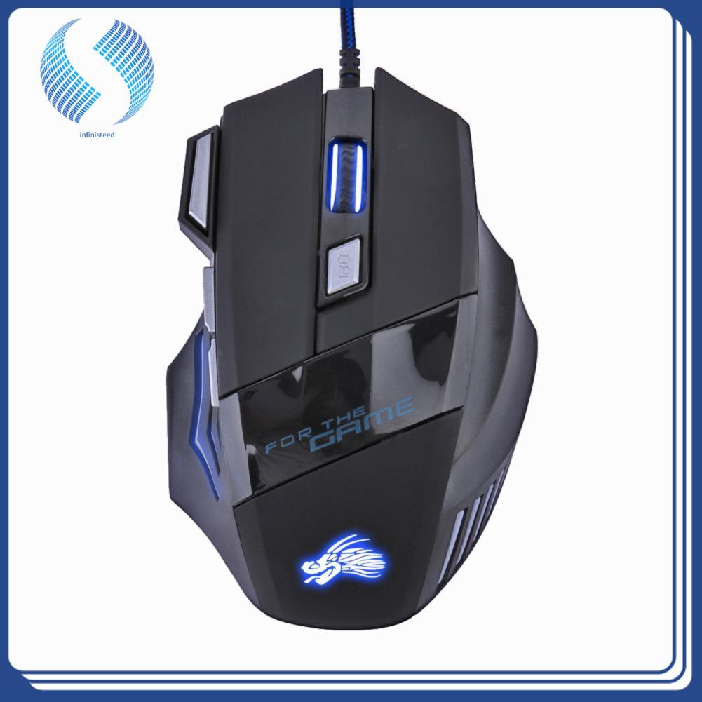 1200DPI Portable Optical LED USB Wired Gaming Mouse Mice For PC Laptop Computer