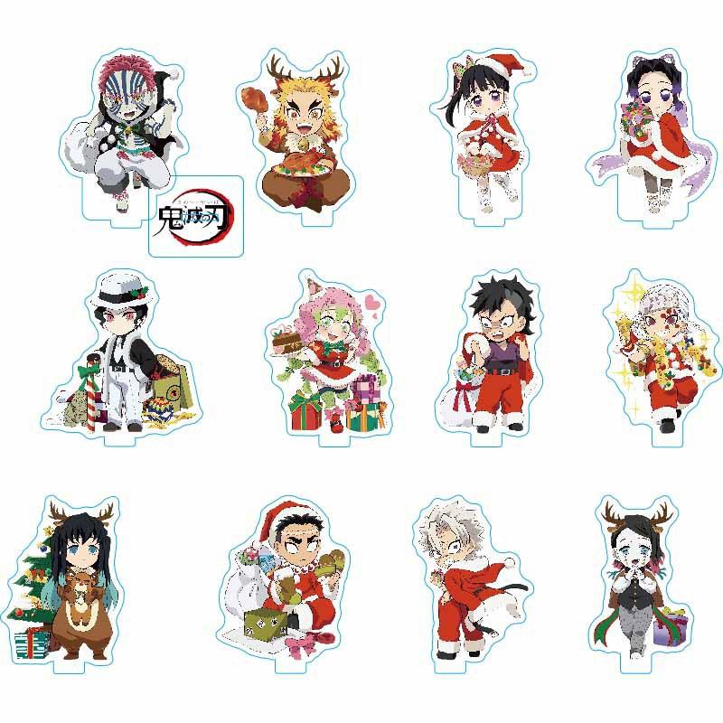 8CM Demon slayer Action Figure Model Acrylic souvenir Decoration Tanjirou Nezuko Christmas Props Anime