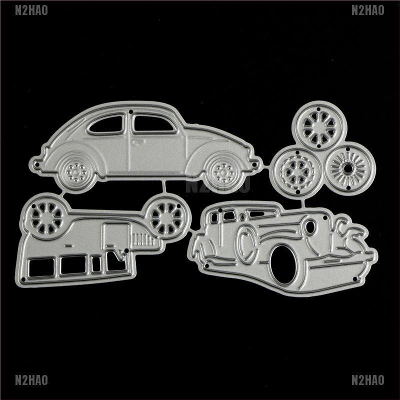 4pcs Classic Cars Metal Cutting Dies For DIY Scrapbooking Album Paper Cards#1