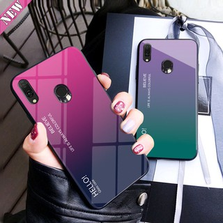 Review Asus Zenfone Max Pro M2 ZB631KL / Max Pro M1 ZB601KL ZB602KL Gradient Glass Black Cover Case กรณี