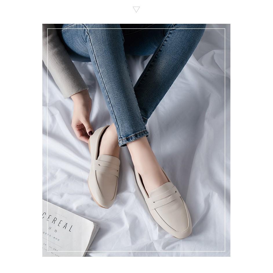 รองเท้าคัชชู หัวแหลม รองเท้าหนังผู้หญิง รองเท้าคัชชู ส้นเตี้ย รองเท้าลำลองรองเท้าแฟชั่น นิ่มมากไม่เจ็บเท้า❤️