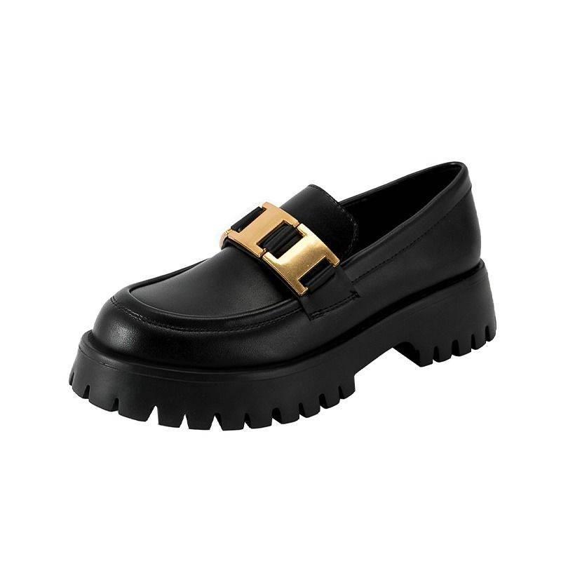 รองเท้าคัชชู รองเท้าผู้หญิง ♟รองเท้าหนังขนาดเล็กหญิงวิทยาลัยอังกฤษลมสีดำรองเท้าเพลง 2021 ฤดูใบไม้ผลิและฤดูใบไม้ร่วงใหม่ห