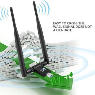 อะแดปเตอร์ไร้สาย USB WIFI 1200 Mbps Dual Band 2 4 GHz / 300 Mbps 5GHz / 867  Mbps Dual 5 dBi Antennas NE