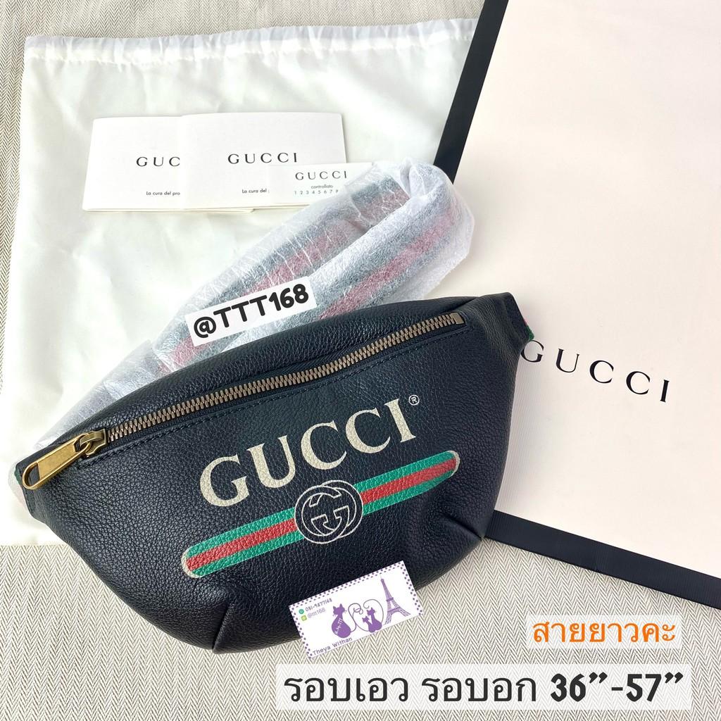 Gucci Belt Bag Mini Black size 90 95 ของแท้