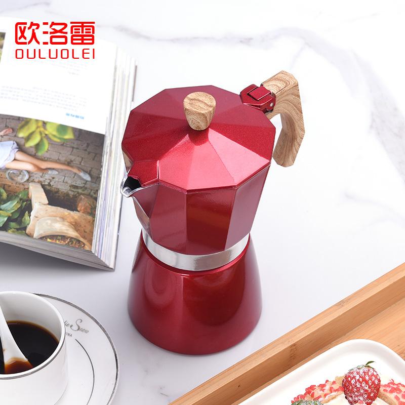 ほ♚หม้อกาแฟหม้อกาแฟหนาหม้อกาแฟดริปหม้อ Oulore Moka หม้อกาแฟทำมือหม้อต้มมือล้างอิตาลีเครื่องใช้ในครัวเรือนชุดหม้อกรองหยดเข