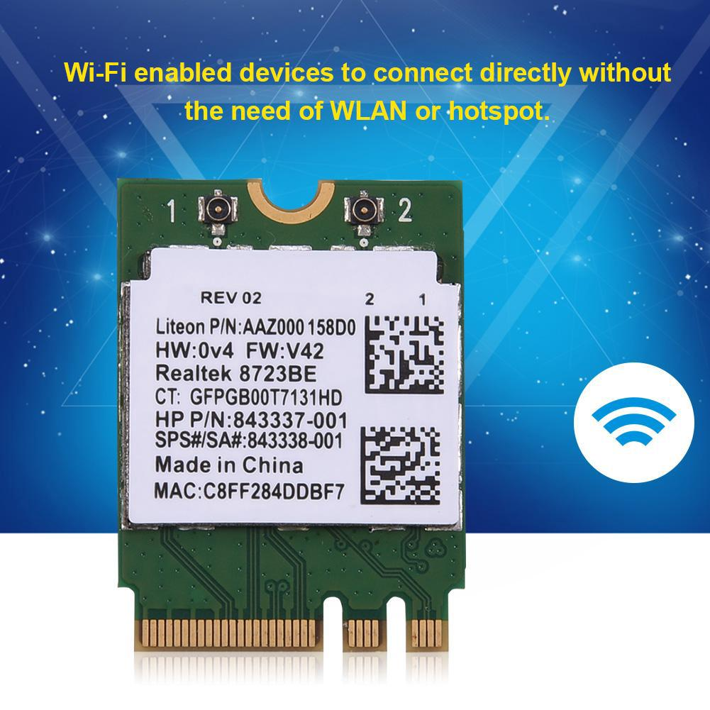 For HP RTL8723BE 150Mbps NGFF 2.4G Wireless WiFi WLAN M.2 Card Bluetooth 4.0 SM