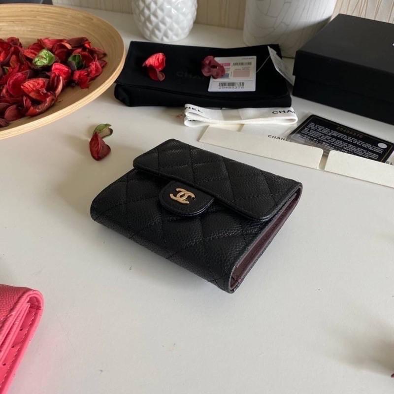 🔥Chanel Classic small wallet cavier skin Original เข้าแล้วค่ะกระเป๋าสตางค์