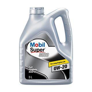 Mobil Super™ 3000 0W-20 น้ำมันเครื่องสังเคราะห์สำหรับรถอีโคคาร์ น้ำมันเครื่องสังเคราะห์แท้100%