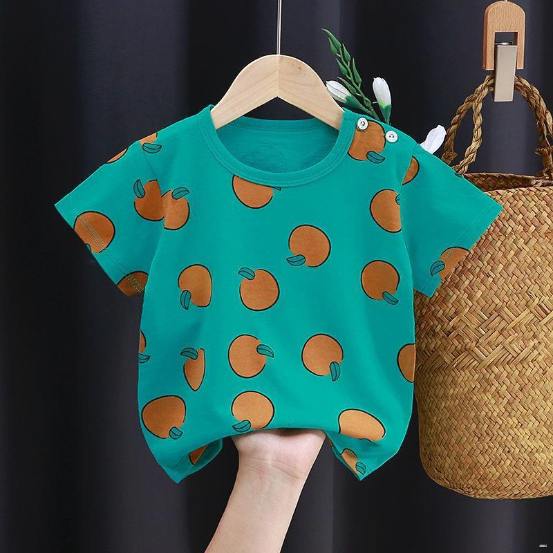 ยางยืดออกกําลังกาย☎✆(เสื้อผ้าเด็ก)  เสื้อยืดแขนสั้นเด็ก, เสื้อผ้าเด็กในช่วงฤดูร้อน, เสื้อเด็กหญิง, เสื้อผ้าเด็กอินเทรนด