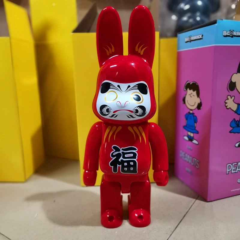 Popular Bearbrick Gold X-large HajimeSorayama Rabbit 400% Action Figure Peking Opera Mask Red Lucky Rabbit Collection Toy