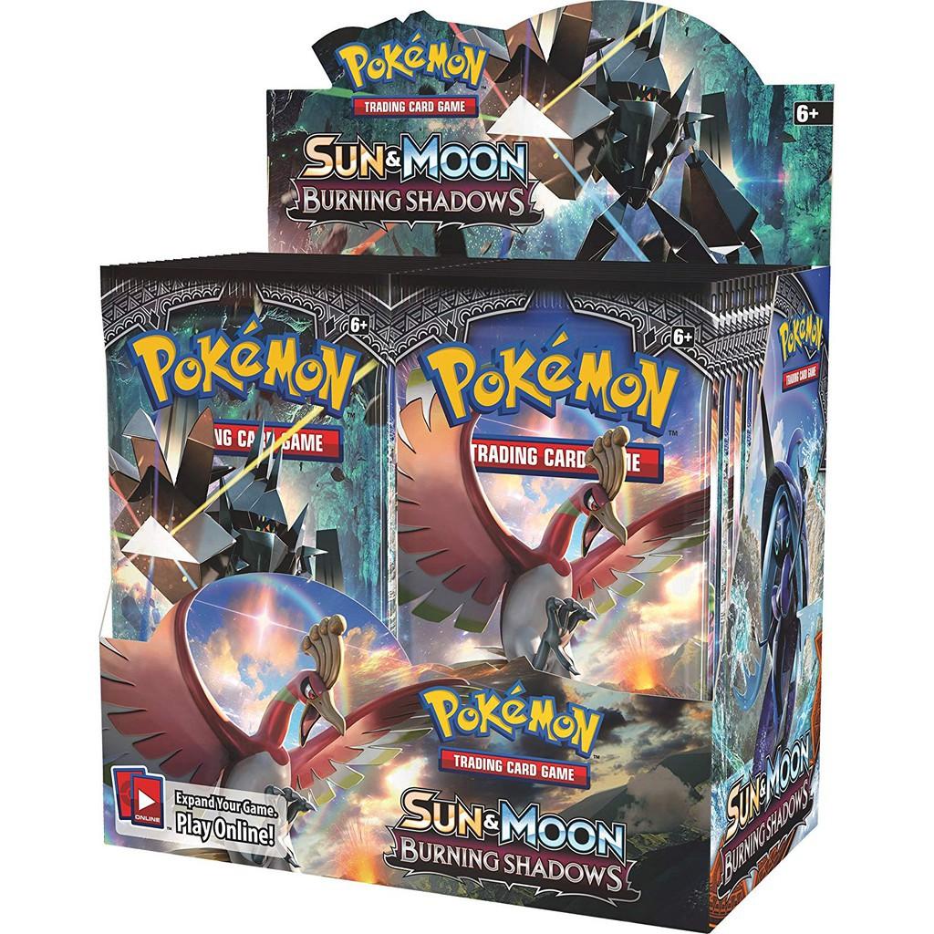Pokemon TCG SM3 Burning Shadows English Booster Box Factory Sealed โปเกมอน อังกฤษ