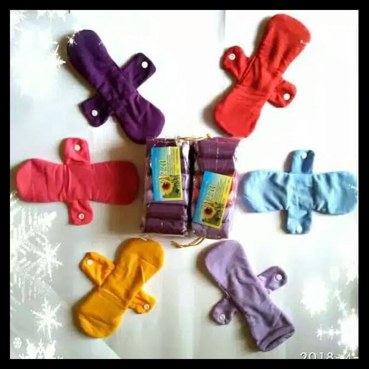 Contents กางเกงชั้นในผ้าอนามัย Azza 6 ชิ้นสําหรับผู้หญิง