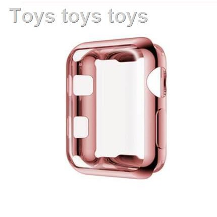 เคสซิลิโคนอ่อนนุ่มสำหรับAirpods caseFashion tpu caseSuitable for Apple Watch case iwatch6/SE 4/3/2/1 generation electroplating soft silicone all-inclusive applewatch cover series4/5/3 ultra-thin 44/42/40/38mm