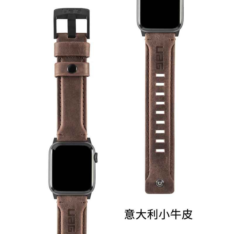 もーUAG สำหรับ Apple Watch CASE Apple watch3/4/5/6/SE รุ่นป้องกันการล่มสลายสากลดูด้วยหนังลูกวัวกีฬากลางแจ้งกันน้ำและเหงื่อ