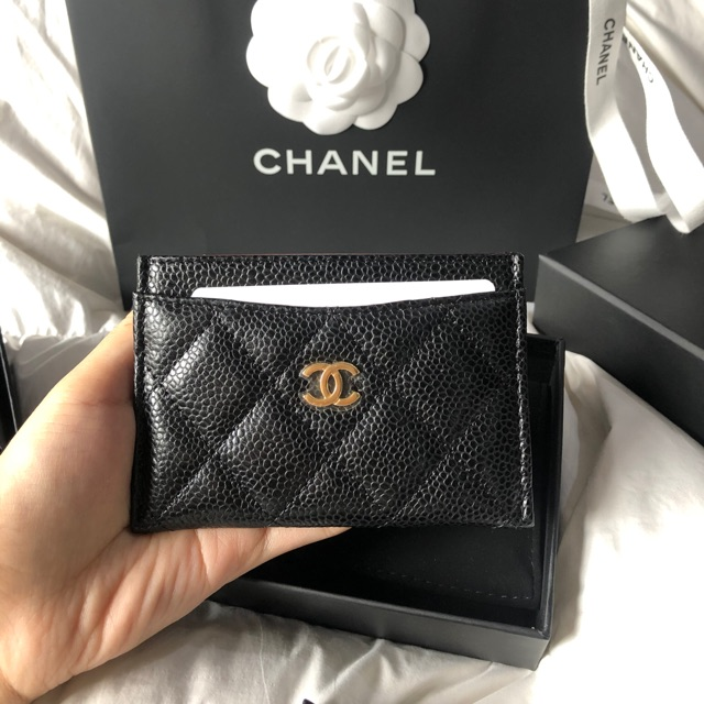 Chanel card holder ghw holo299