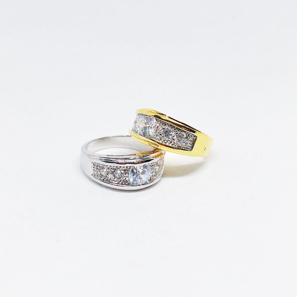 แหวน unisex type B เพชร cz ชุบทองไมครอน และทองคำขาว ราคาพิเศษ