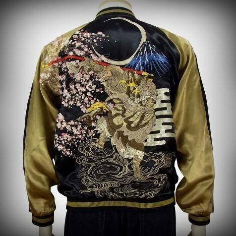 SUKAJAN แบรนด์แท้ญี่ปุ่น  Japanese Souvenir Jacket  แจ็คเกตซูกาจันลาย    Sakura Goku