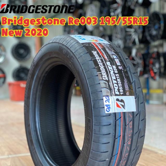 Bridgestone_Re003 195/55R15 ยางใหม่ปี2020 จัดส่งฟรี ติดตั้งฟรีที่ร้าน