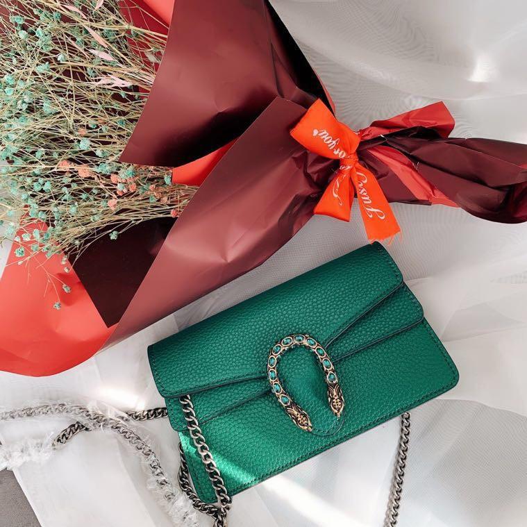 Gucci Gucci Dionysus มินิสีดำ / แดงกระเป๋า Dionysus กระเป๋าโซ่ WOC กระเป๋าสะพายกระเป๋าสะพายข้างกระเป๋าหญิง
