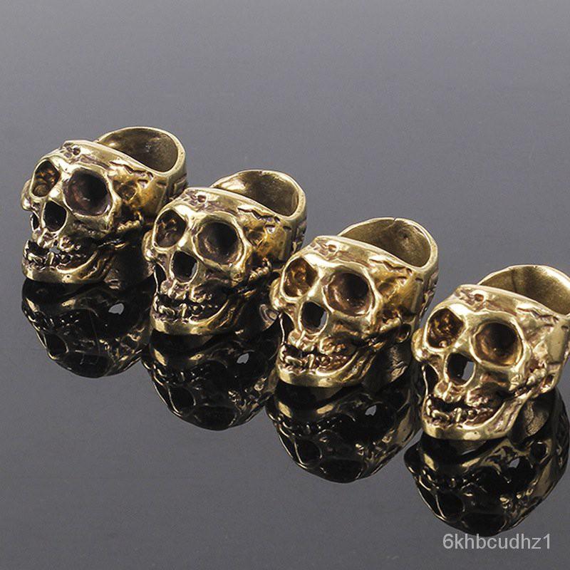 1cs Cigar Cigarette Holder Creative ure Coer Carved Skull Cigar Dislay Stand Fashion ersonality Ring Cigarette Holder#¥%