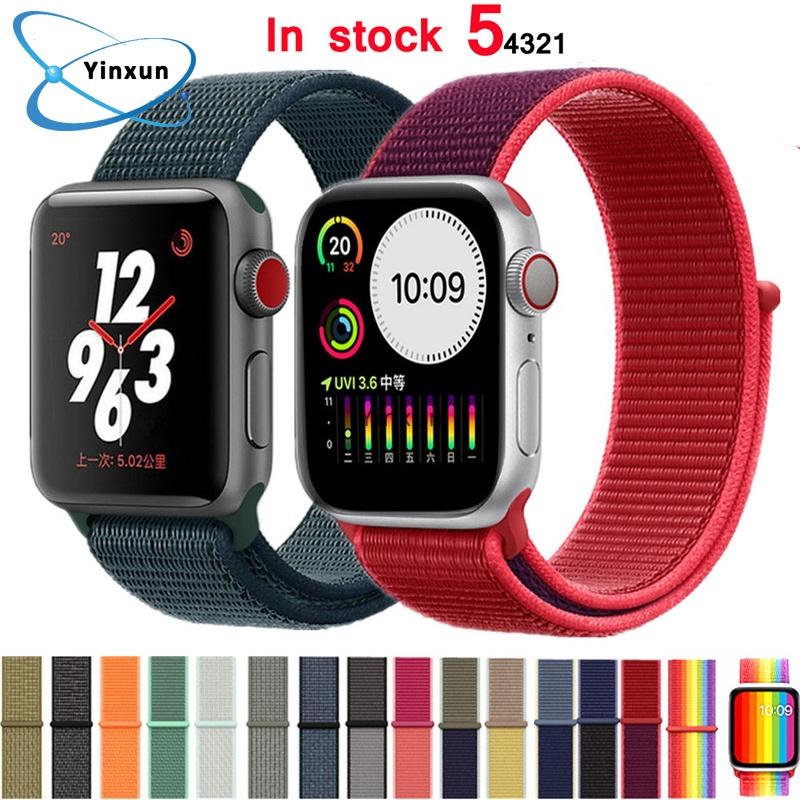 สายนาฬิกาข้อมือไนล่อนสําหรับ Apple Watch 5 4 Band 44 มม . 40 มม . Iwatch Series 3 2 1 Band 38 มม . 42 มม .