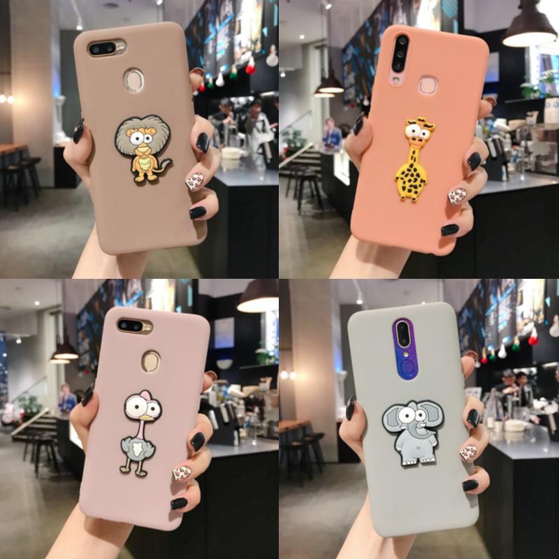 เคส Samsung A21s A31 A9 M31 M30s M20 J8 J7 J6 J6+ J4 J4+ Plus Pro Prime 2018 Solid Color Cartoon Cute Animals Soft Case