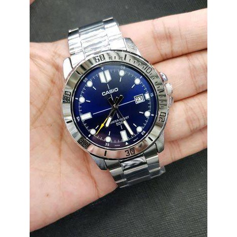 นาฬิกา คาสิโอ Casio STANDARD Analog สายสแตนเลส MTP-VD01D-2E สินค้าประกันศูนย์ CMG ทุกเรือน