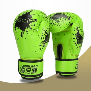 Boxing Gloves Equipment Boxer Accessory Outdoor Indoor Men Women PU Boxer Gloves Gym Fitness Training Fighting Gloves Ad
