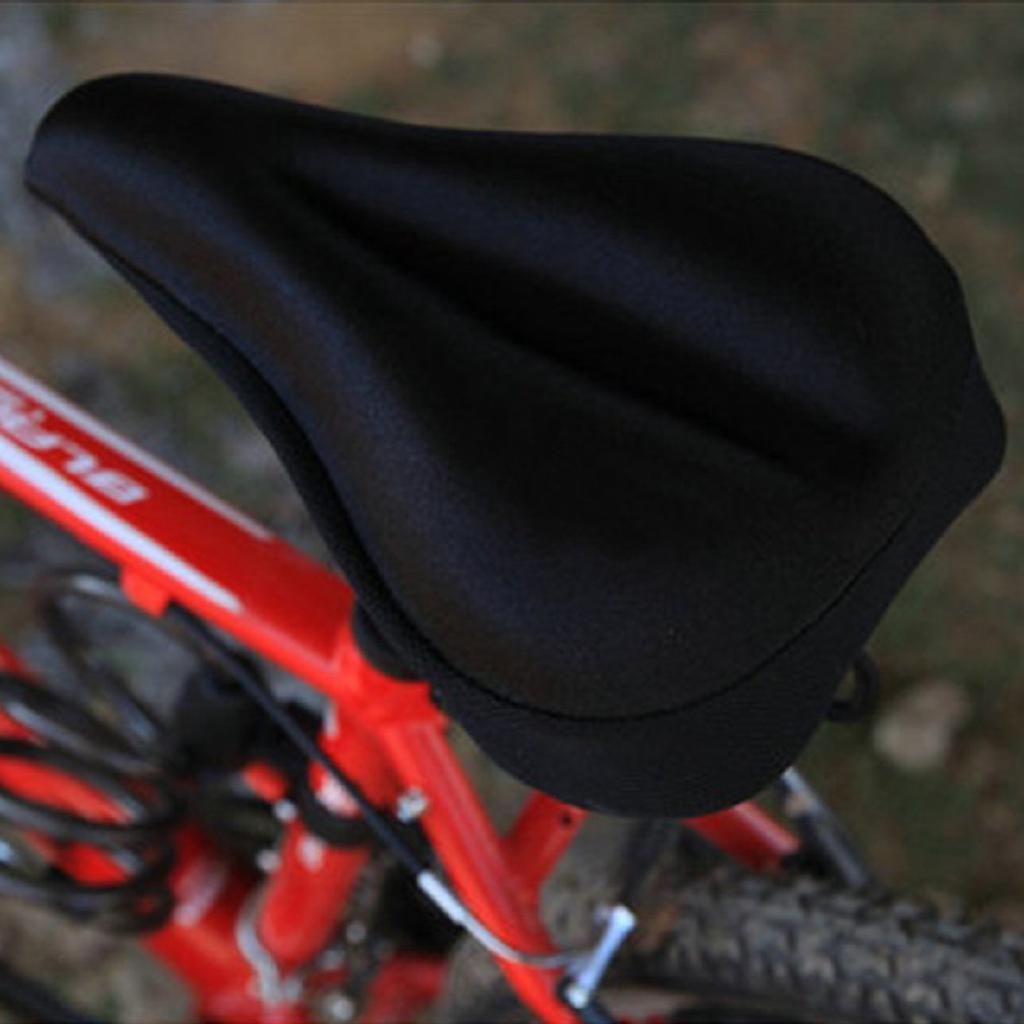 Silicone Gel Extra Soft Bicycle Road Mountain Bike Saddle Cushion Seat Cover Pad