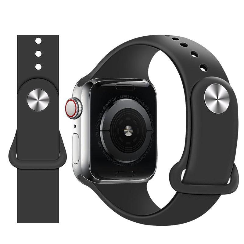 สายนาฬิกาข้อมือซิลิโคนสําหรับ Applewatch6 Applewatch 2ชิ้น